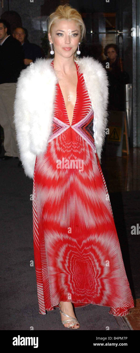 93c8d5a53ccc Tamara Beckwith at the Red Cross Ball at the Hilton Wearing a long red tie  dye