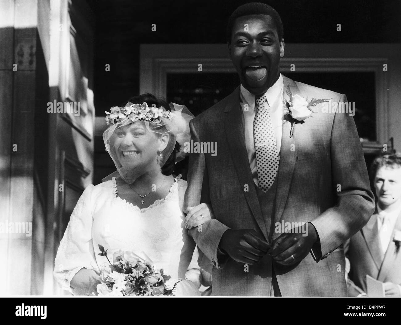 Dawn French And Lenny Henry Black And White Stock Photos Images Alamy