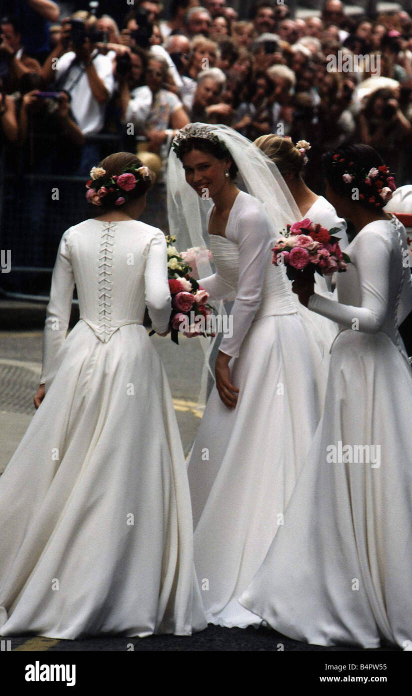 lady sarah armstrong jones bride of daniel chatto wears