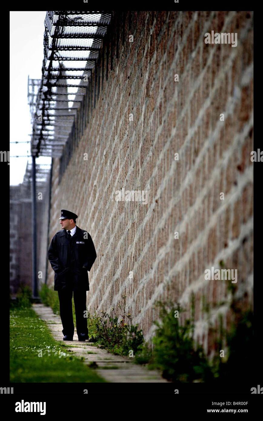 General exterior views of Peterhead prison june 2002 - Stock Image