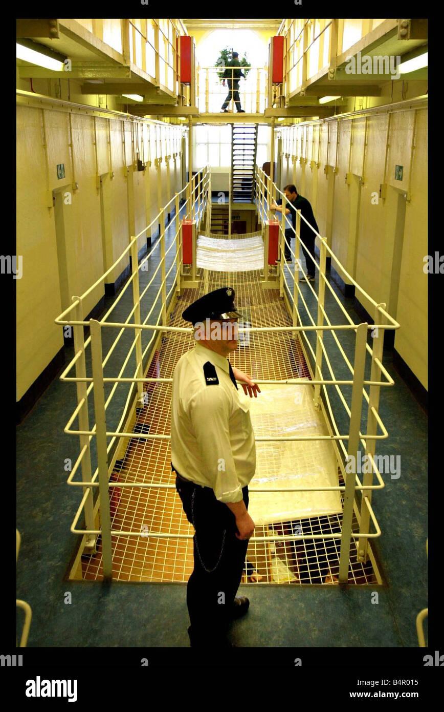 General interior views of Peterhead prison june 2002 - Stock Image