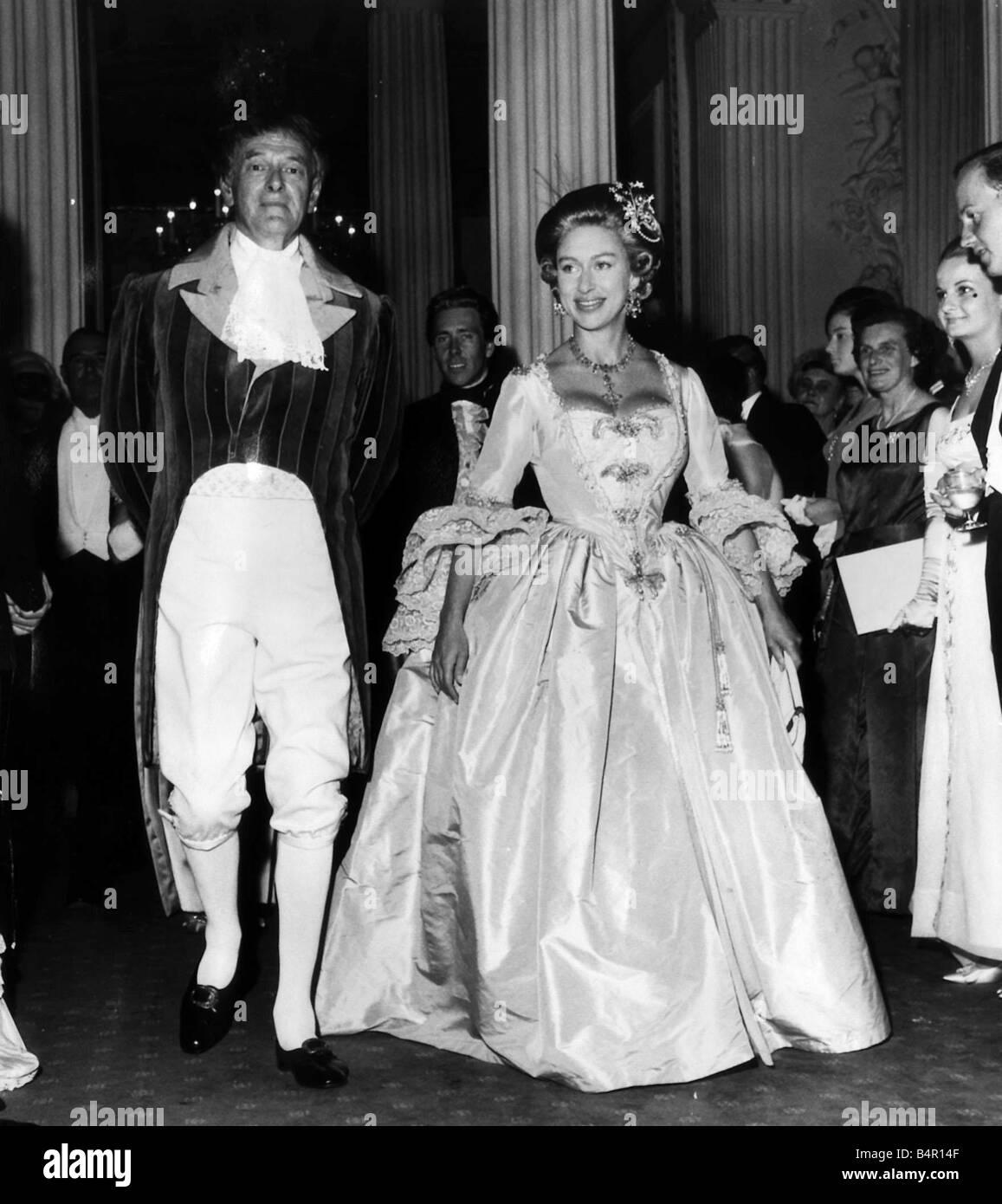 Princess Margarets Wedding >> Princess Margaret in Fancy dress for the Georgian Ball Stock Photo: 20174799 - Alamy