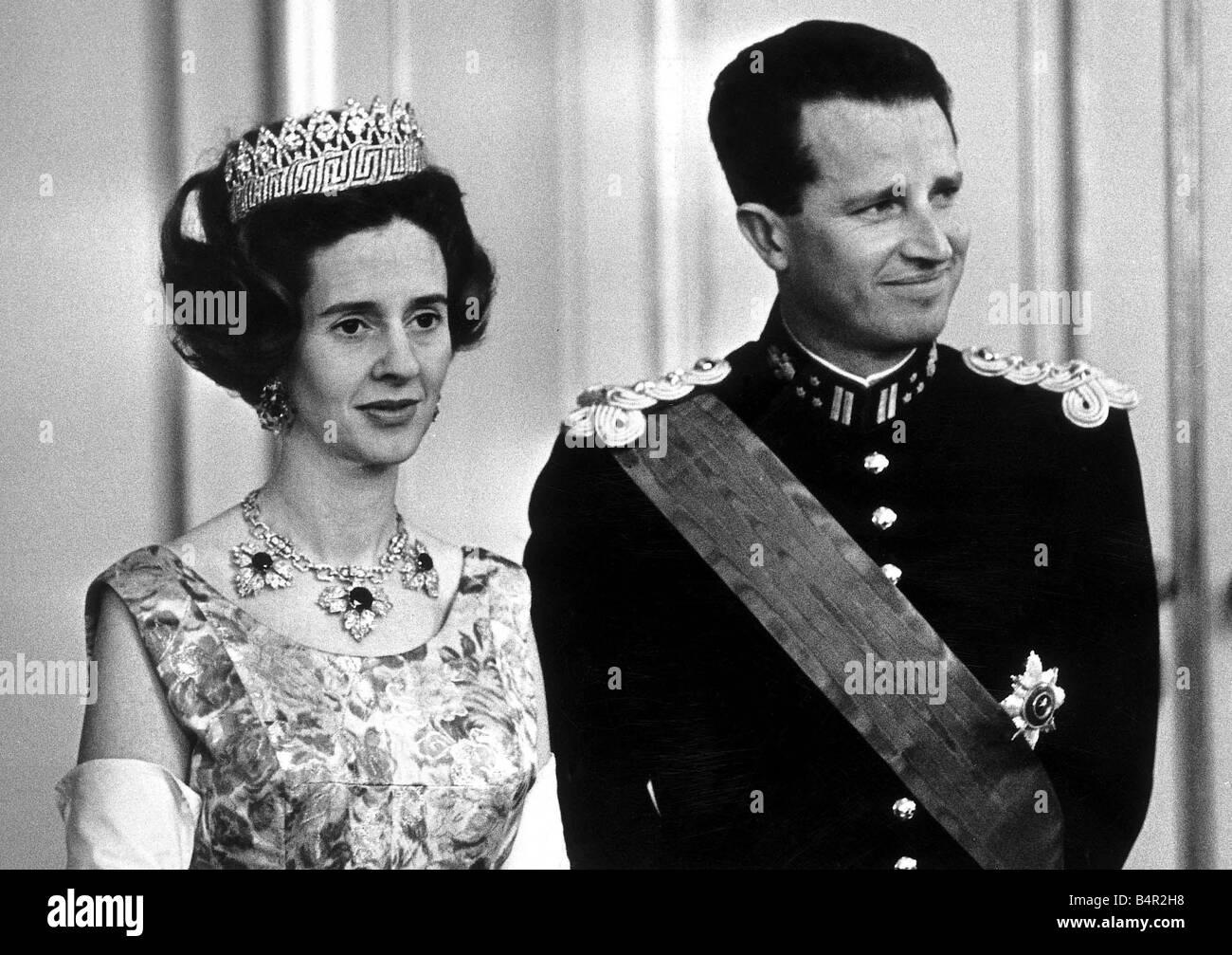 Foreign Royalty Belgium August 1968 King Baudoiun and Queen Fabiola of Belgium - Stock Image
