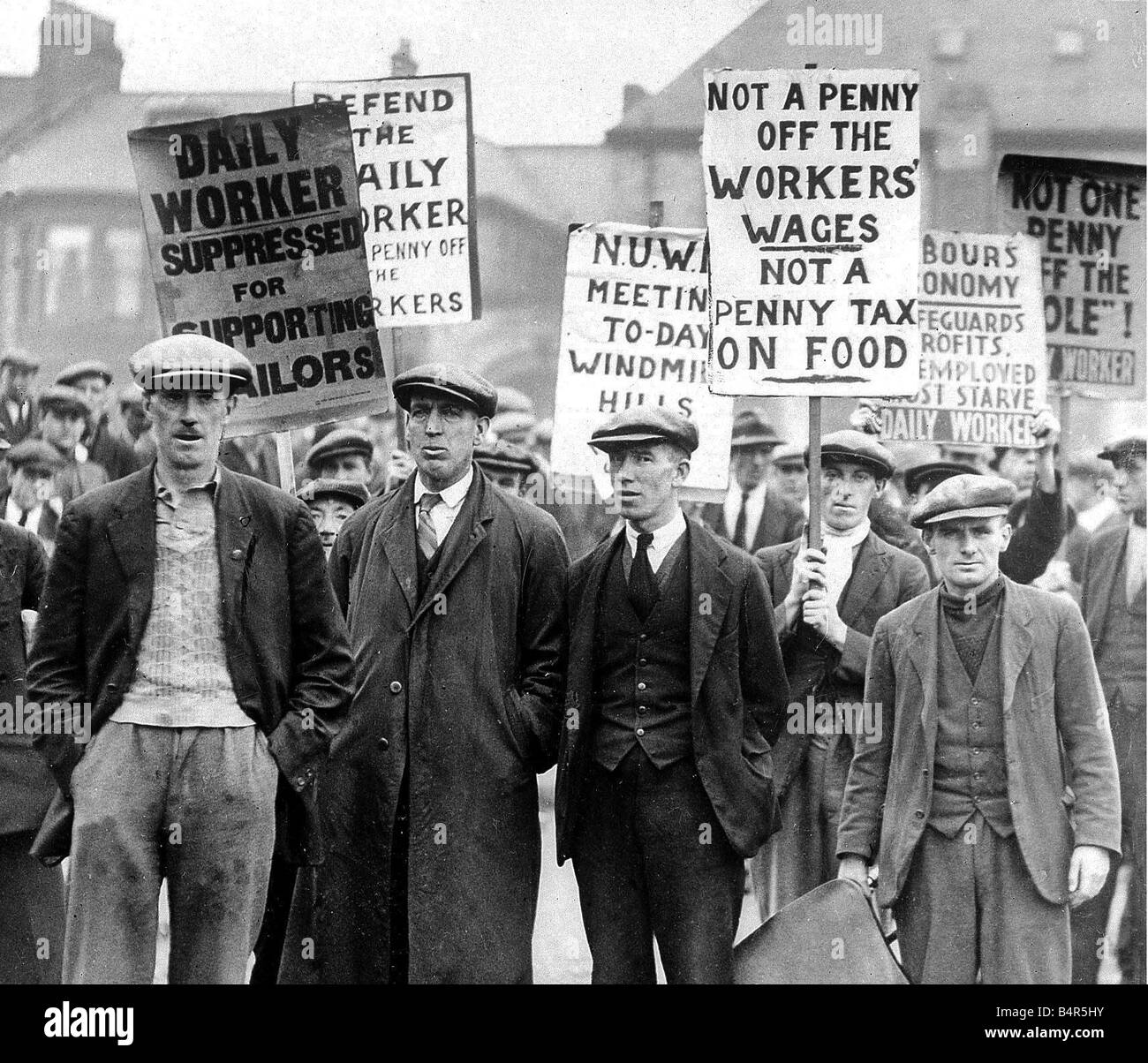 North East workers demonstrating during the General Strike of 1926