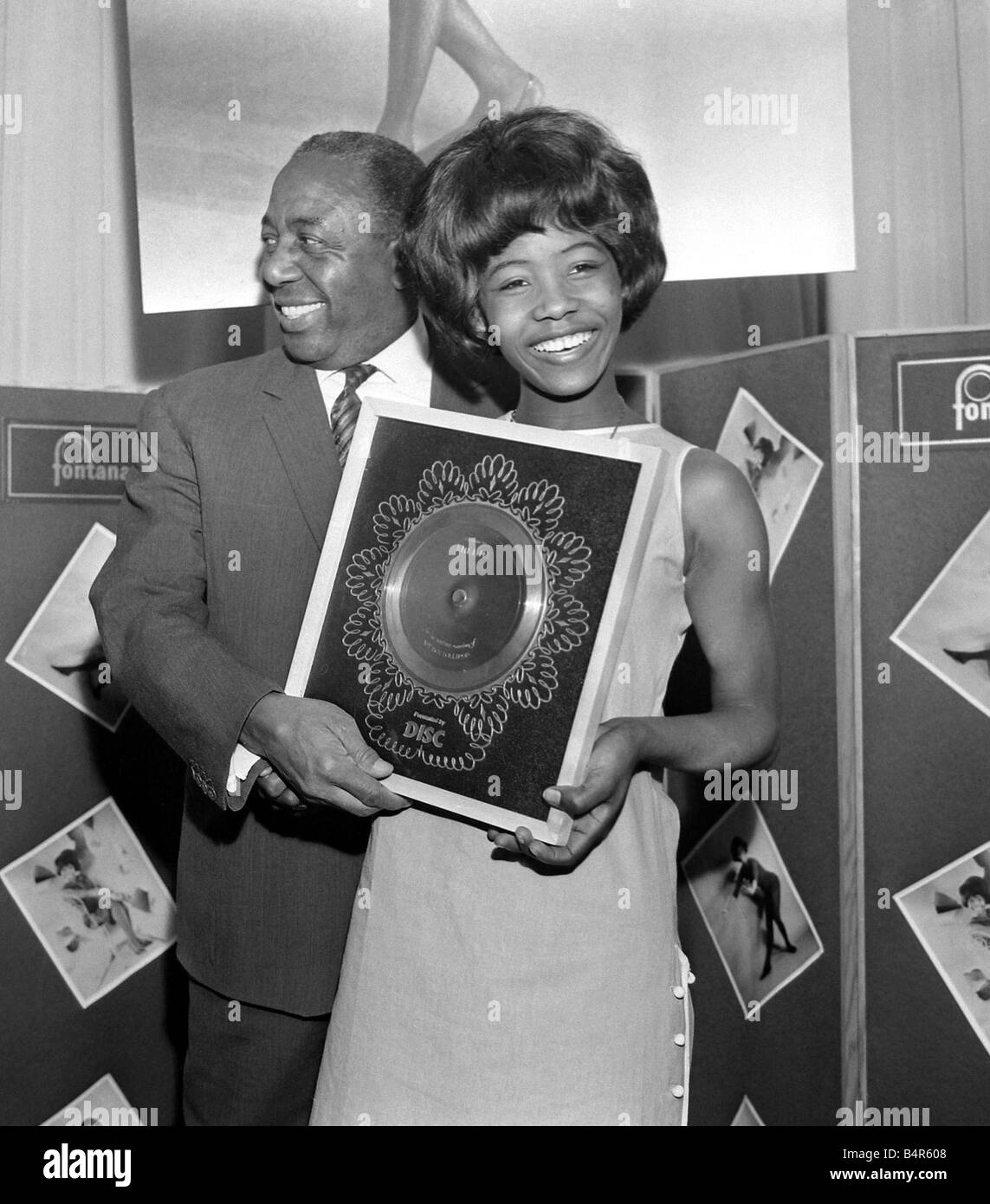 Millie Small Dynamic pop singer of My Boy Lollipop at a reception at Fontana Records where she received her silver - Stock Image