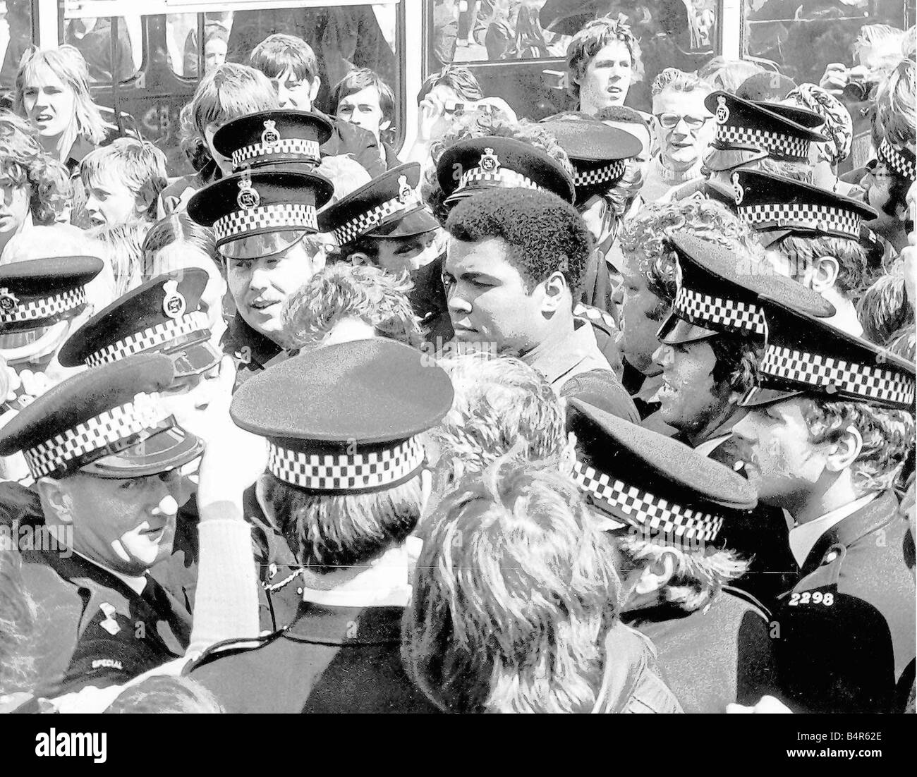 Muhammad Ali during his visit to Newcastle during July 1977 - Stock Image