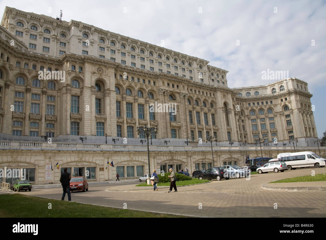 Bucharest Romania Europe EU Casa Poporului House of the People started by Nicholae Ceausescu in 1984  most expensive Stock Photo