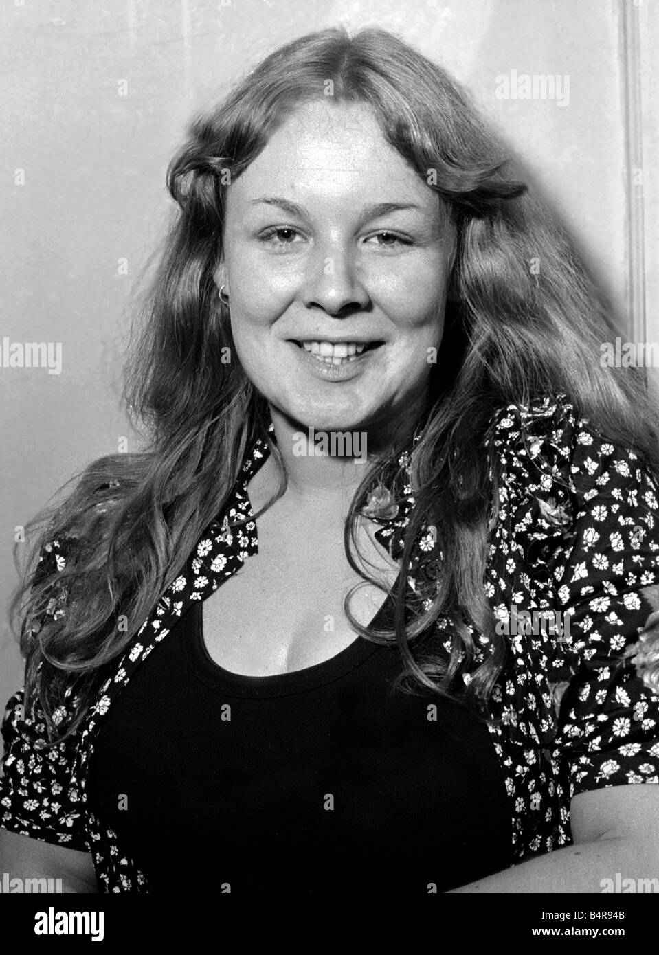 Sandy Denny The 1971 Melody Maker Pop Poll Awards The British section female singer Sandy Deeny with 457 points - Stock Image