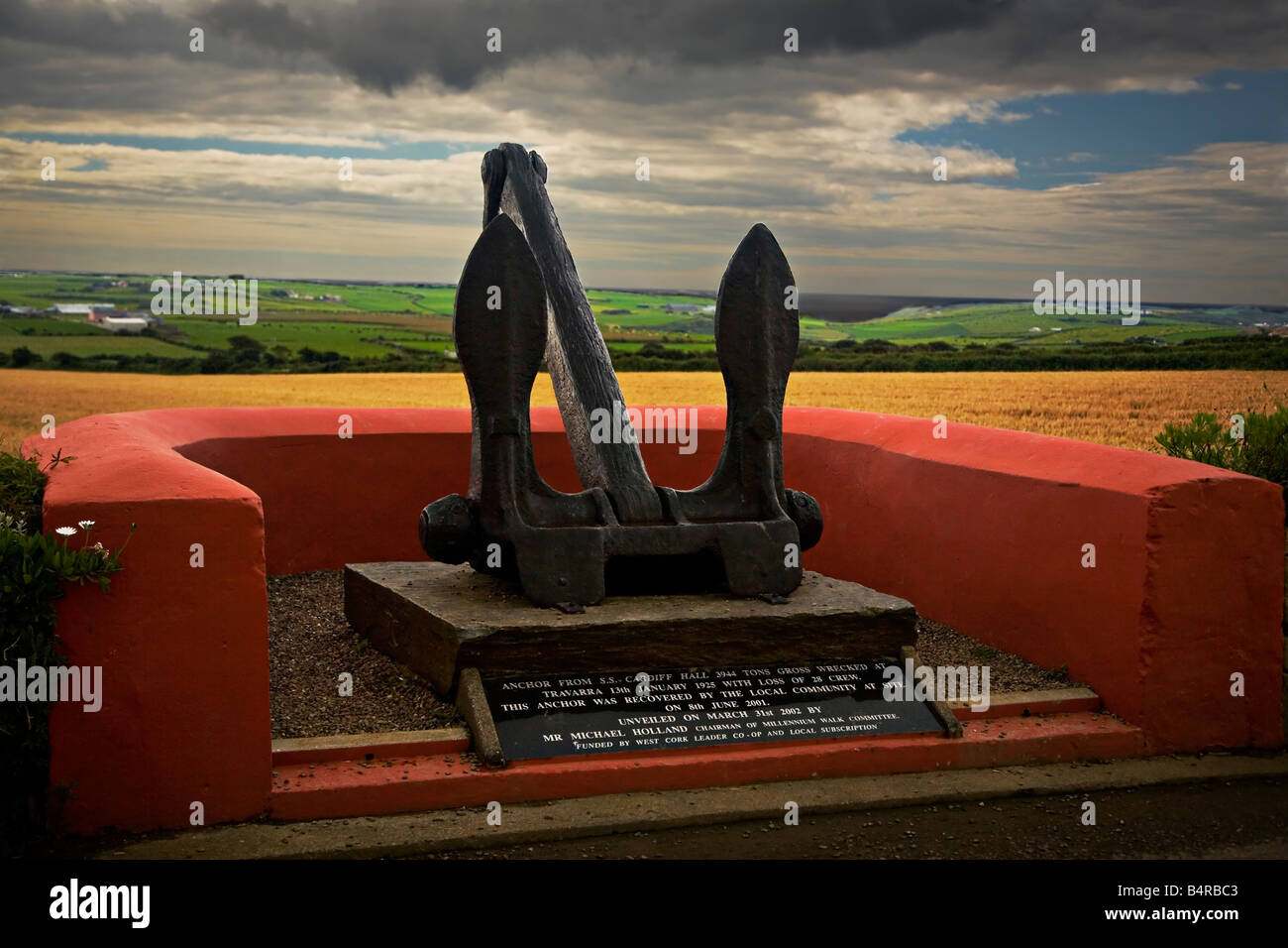 S.S. Cardiff Hall Anchor in Butlerstown West Cork Ireland - Stock Image