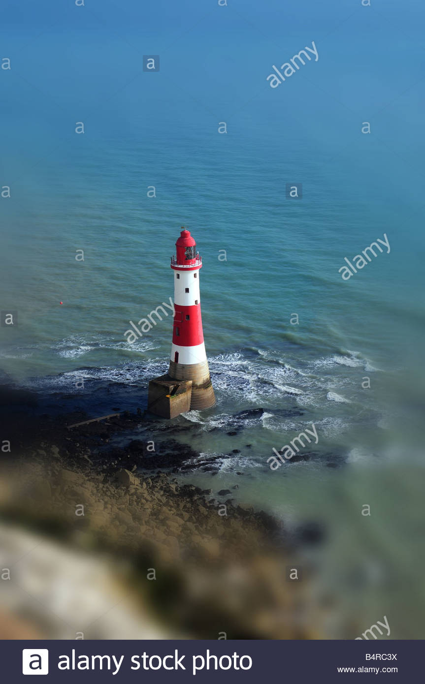 Light house at beachy head - Stock Image