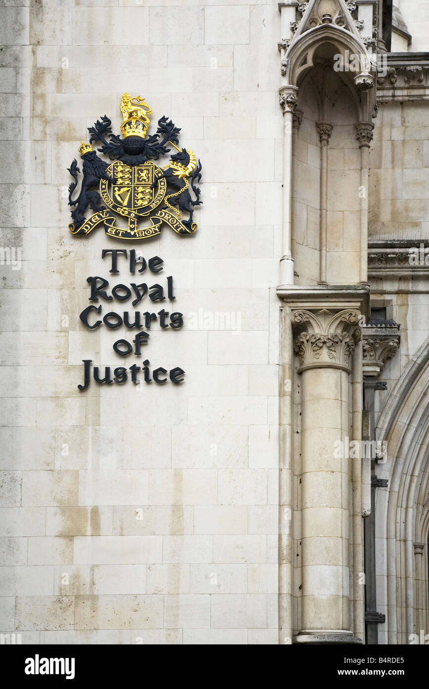 Royal Courts of Justice The Strand London England UK United Kingdom GB Great Britain British Isles Europe - Stock Image
