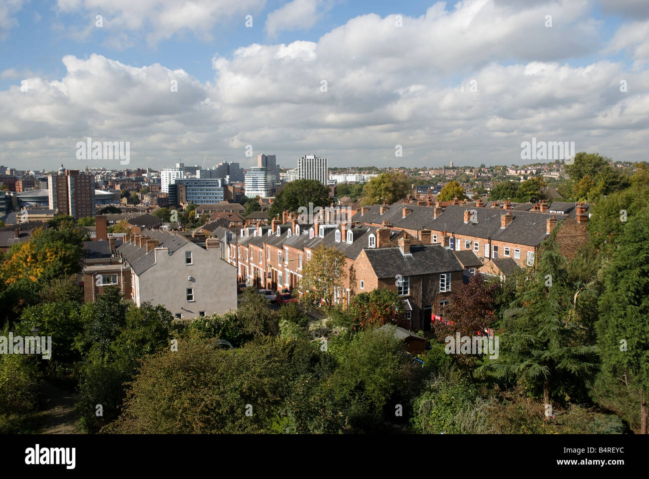 View over Nottingham city centre from Sneinton - Stock Image