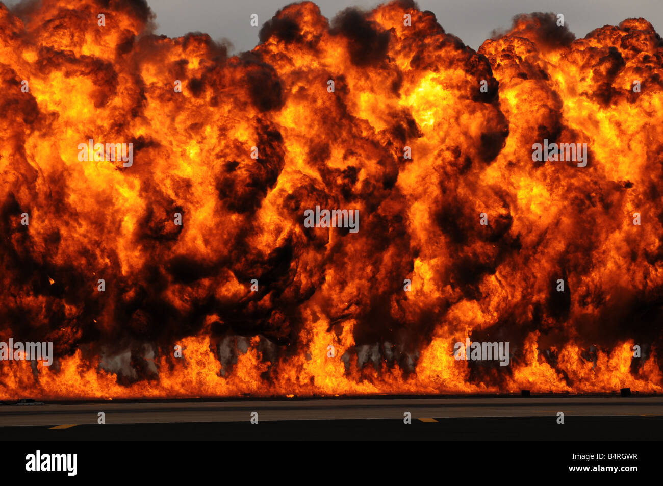 Fiery Explosion - Stock Image
