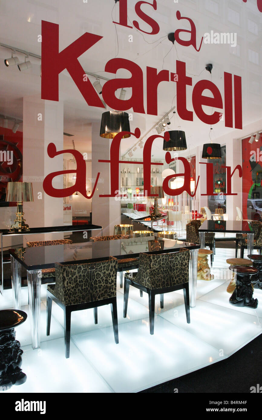 Kartell design shop Via Turati Milan Lombardy Italy Stock ...