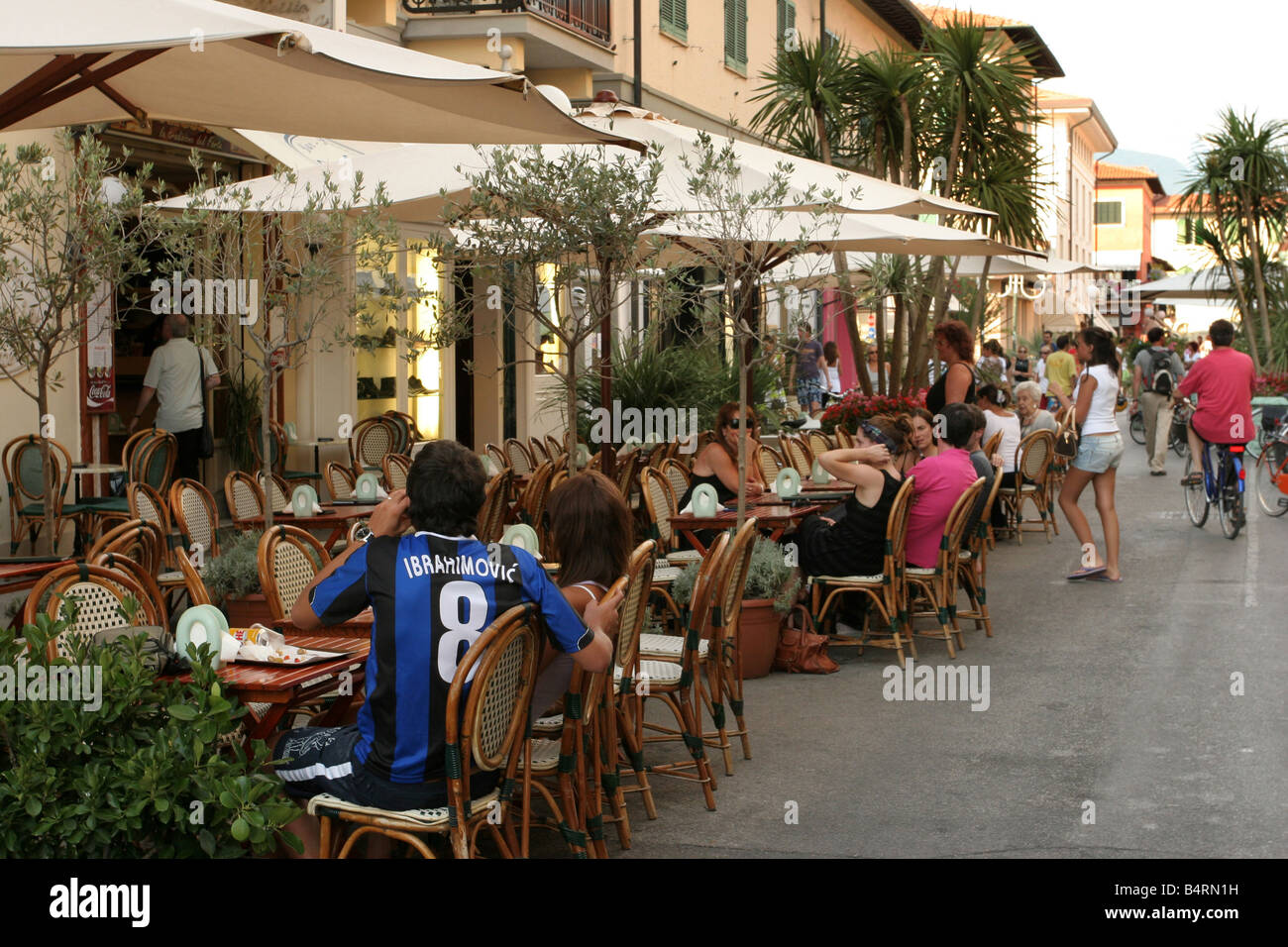 historic centre forte dei marmi tuscany italy stock photo. Black Bedroom Furniture Sets. Home Design Ideas