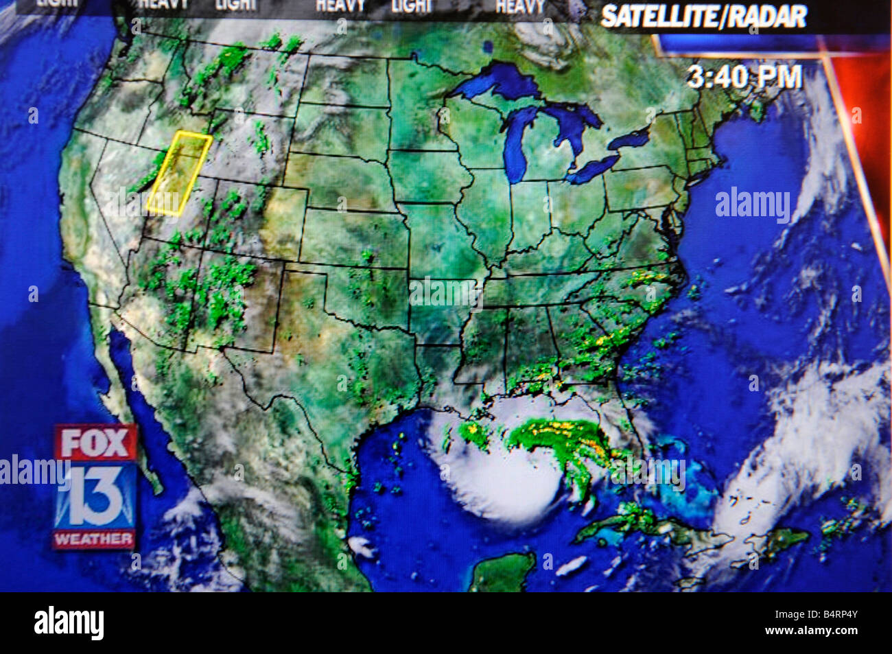 Tv Weather Map.Weather Forecast Television Stock Photos Weather Forecast