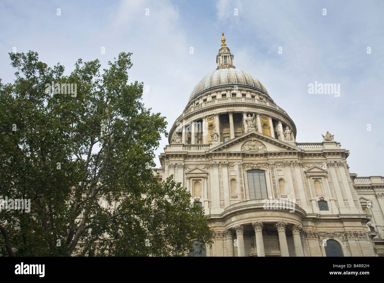 St Pauls Cathedral exterior and dome London England UK United Kingdom GB Great Britain British Isles Europe EU - Stock Image