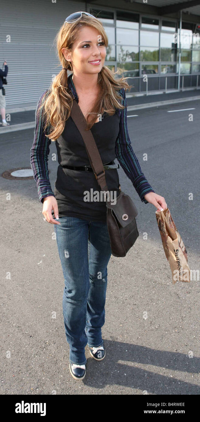 World Cup 2006: Cheryl Tweedy arrives at Bad Baden airport. She is the girlfriend of England footballer, Ashley - Stock Image