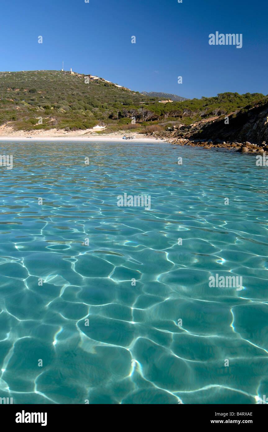 7308767303f86 Mari Pintau beach Quartu Sant Elena Sardinia Italy Stock Photo ...