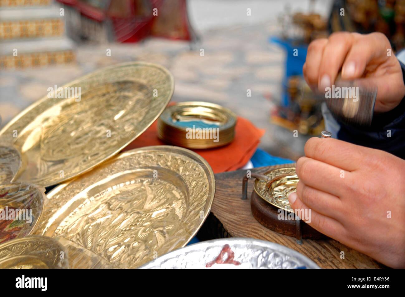 Handicrafts  Hammamet  Tunisia  North Africa  Africa - Stock Image
