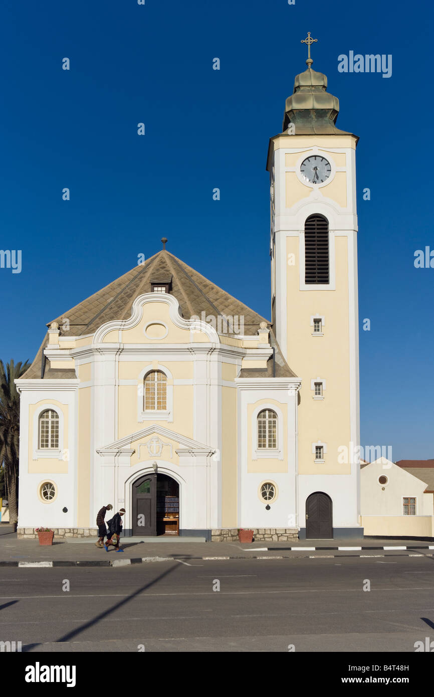 church Swakopmund Namibia Africa German Lutheran - Stock Image
