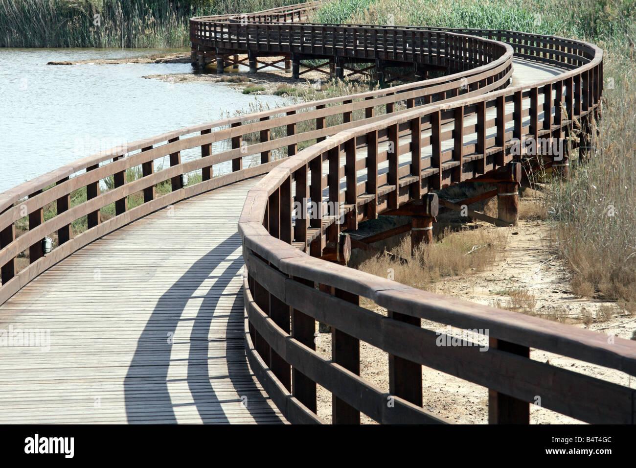 Wooden Bridge in Cagliari, Sardinia, Italy. - Stock Image