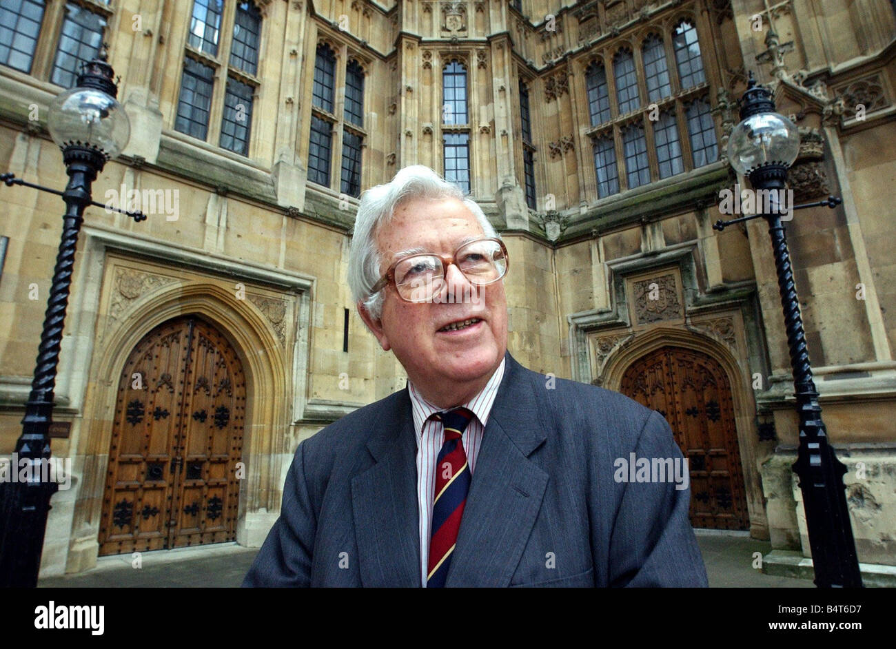 Lord Geoffrey Howe Conservative politician 4th Feb 2003 - Stock Image
