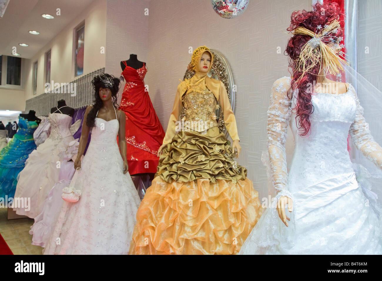 Turkey Wedding Dress Shop Stock Photos & Turkey Wedding Dress Shop ...