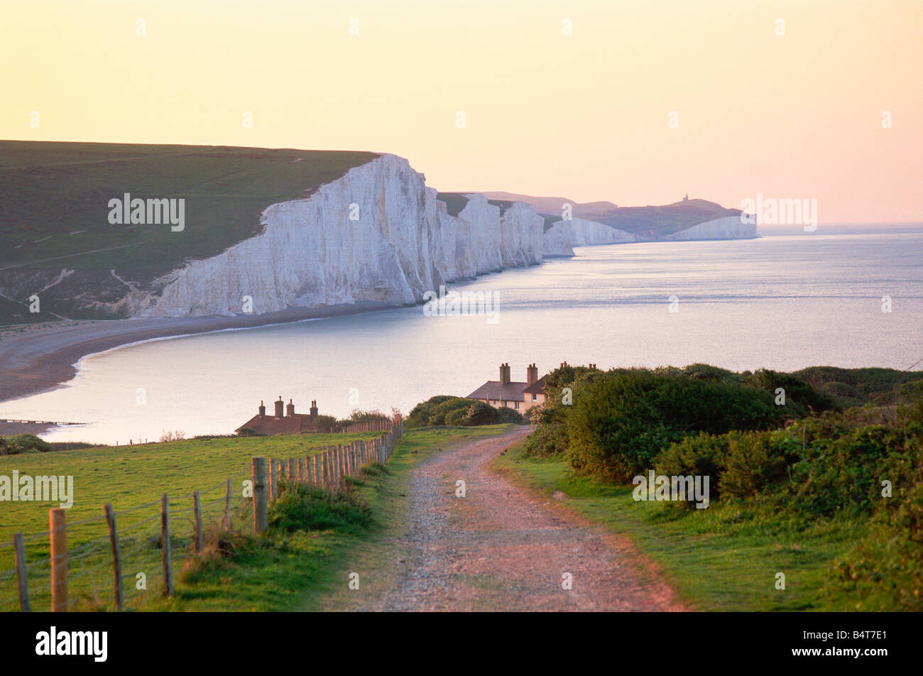 England, Sussex, Seven Sisters - Stock Image
