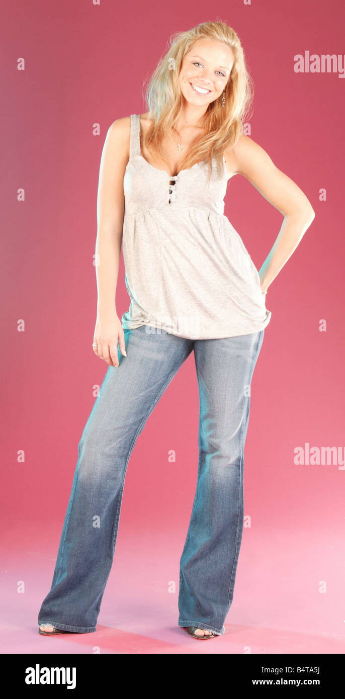 Liz McLarnon fashion model posing for the camera - Stock Image