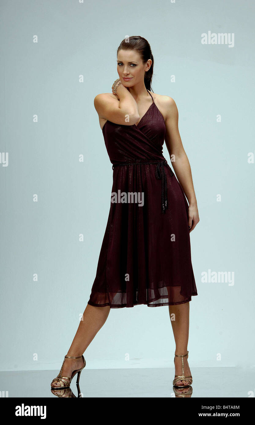 Fashion shoot with Tv presenter Kirsty Gallacher Party dresses for ...