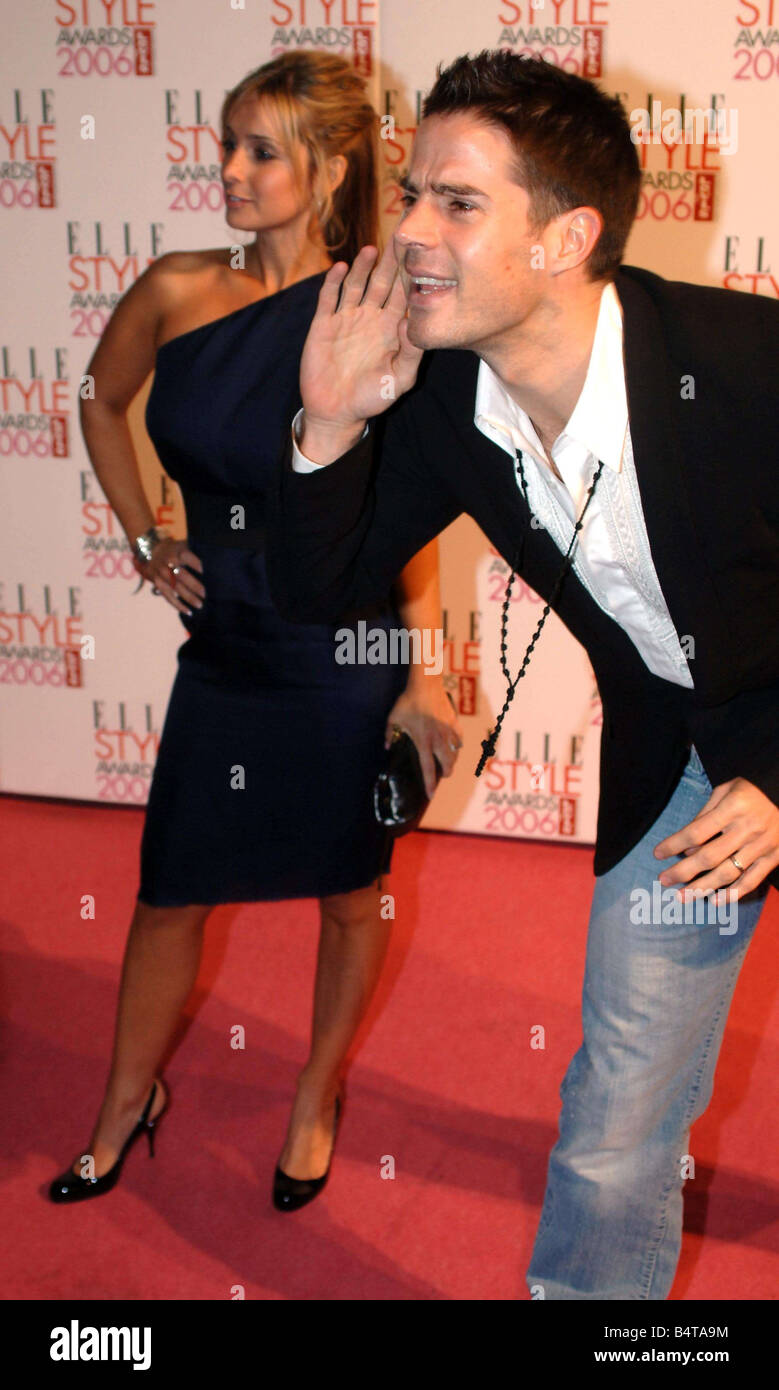 Jamie and Louise Redknapp formerly Louise Nurding from Eternal arrive for the Elle Fashion Awards in Brick Lane - Stock Image