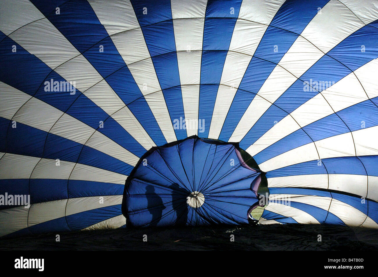 Hot Air Balloon Festival Cofton Park Longbridge Balloons at WMSP are inflated for a staggered take off - Stock Image
