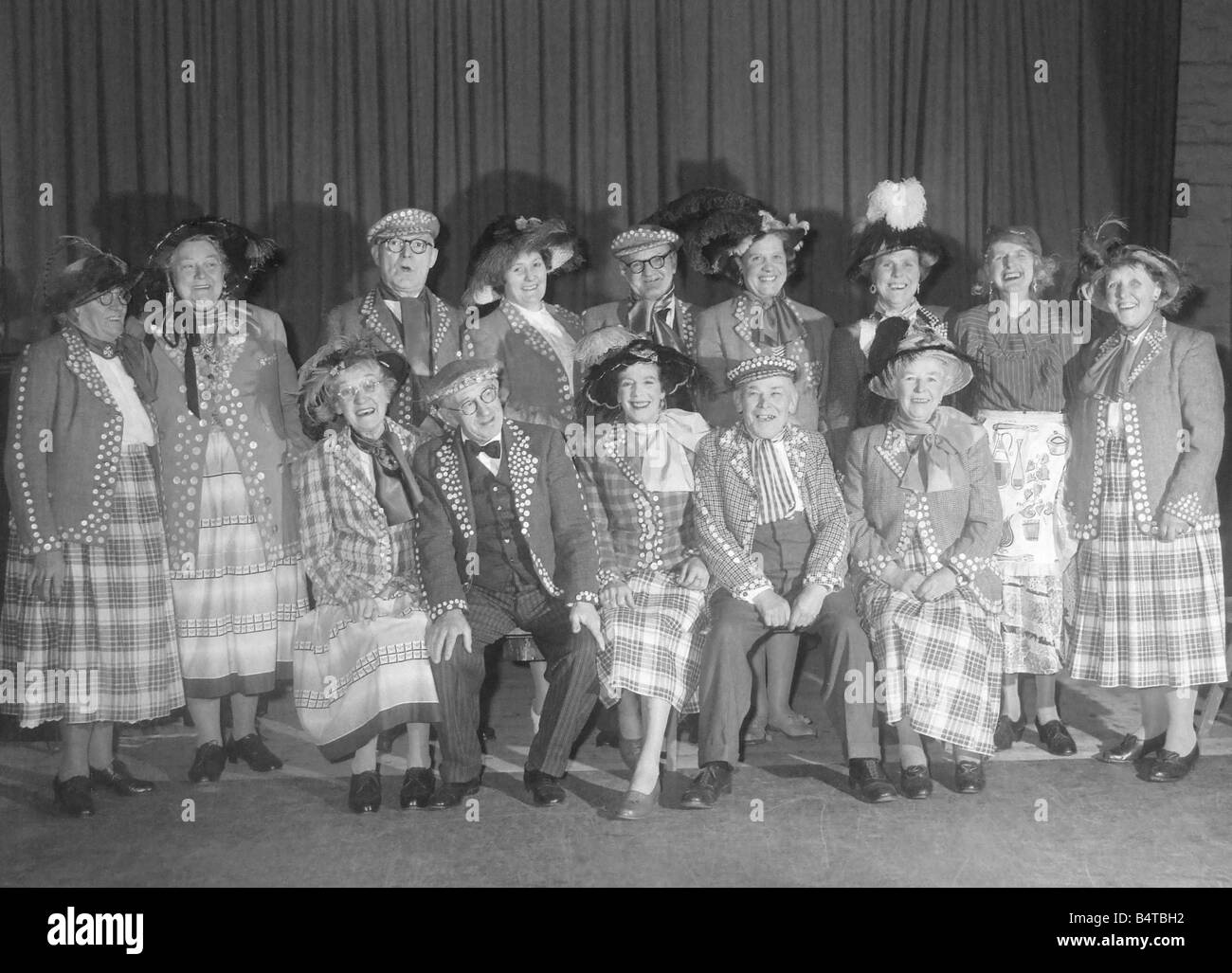Pearly kings and queens concert party - Stock Image