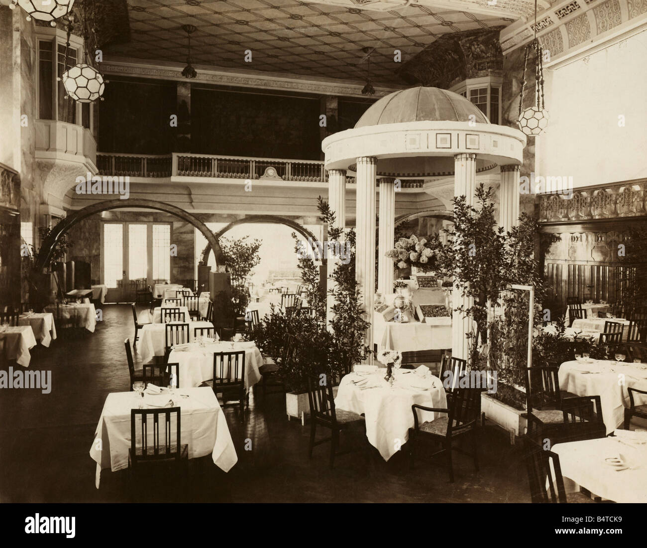 geography / travel, Germany, Munich, gastronomy, 'Four Seasons' hotel, interior view, Cherubin palace, built - Stock Image
