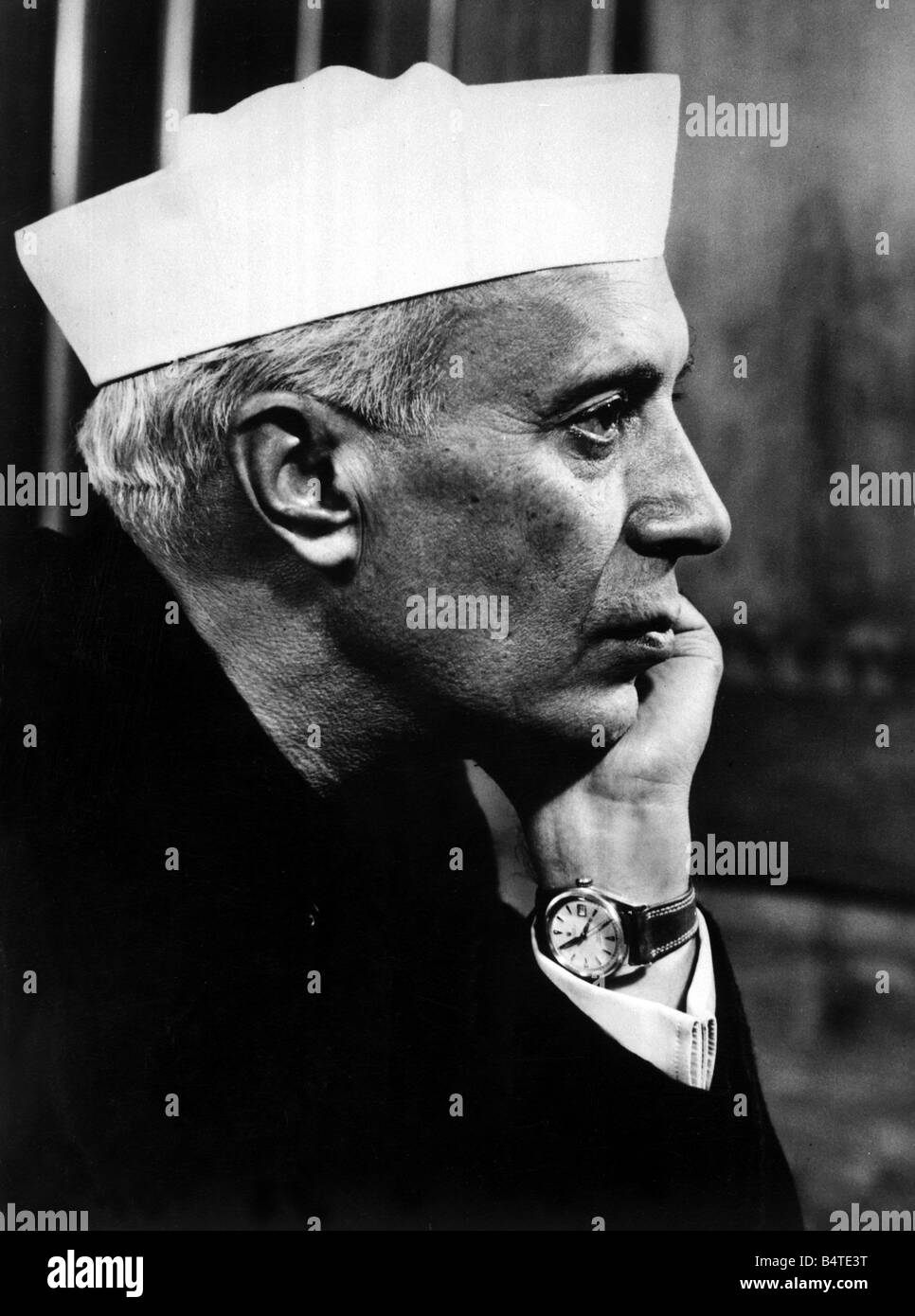 Pandit Jawaharlal Nehru Prime Minister of India Indian High Commissioner January 1973 - Stock Image