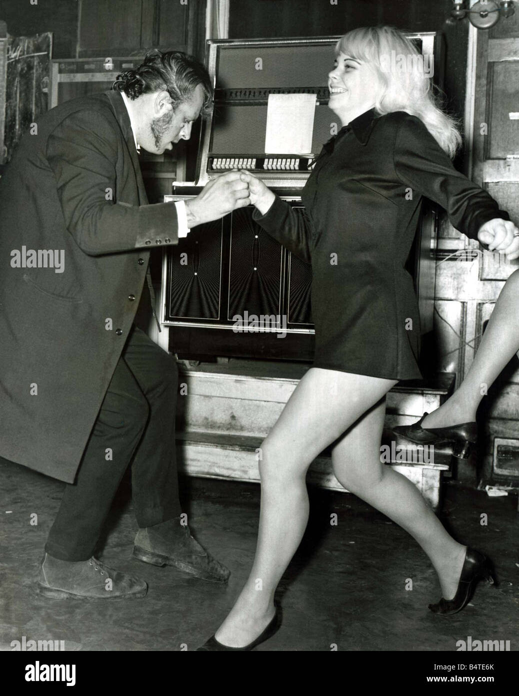 David and Caroline Page from Ilford rock away at the Black Raven pub in Bishopsgate London Teddyboys emerge on a - Stock Image