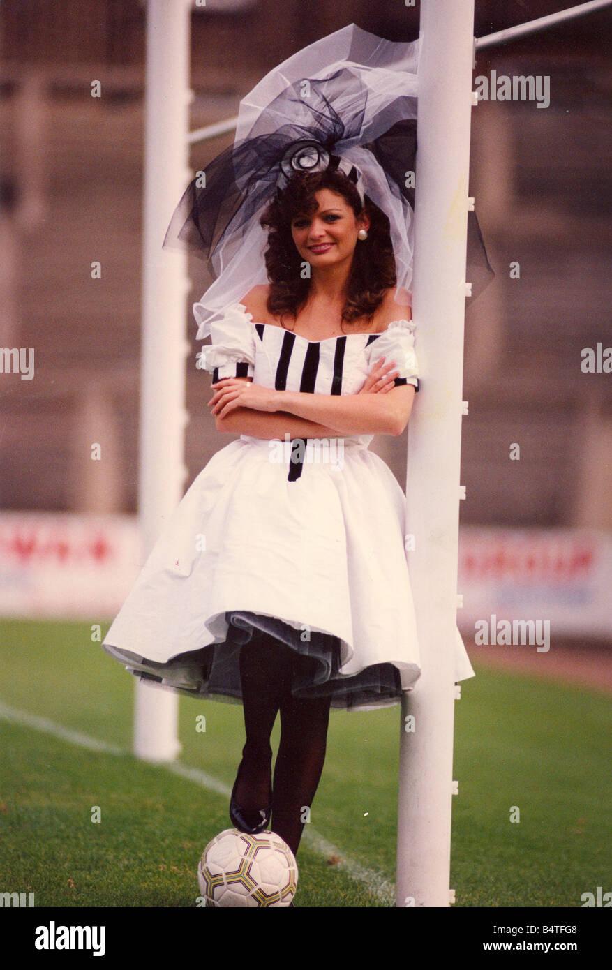 Newcastle United Football Club wedding dress Stock Photo: 20208056 ...
