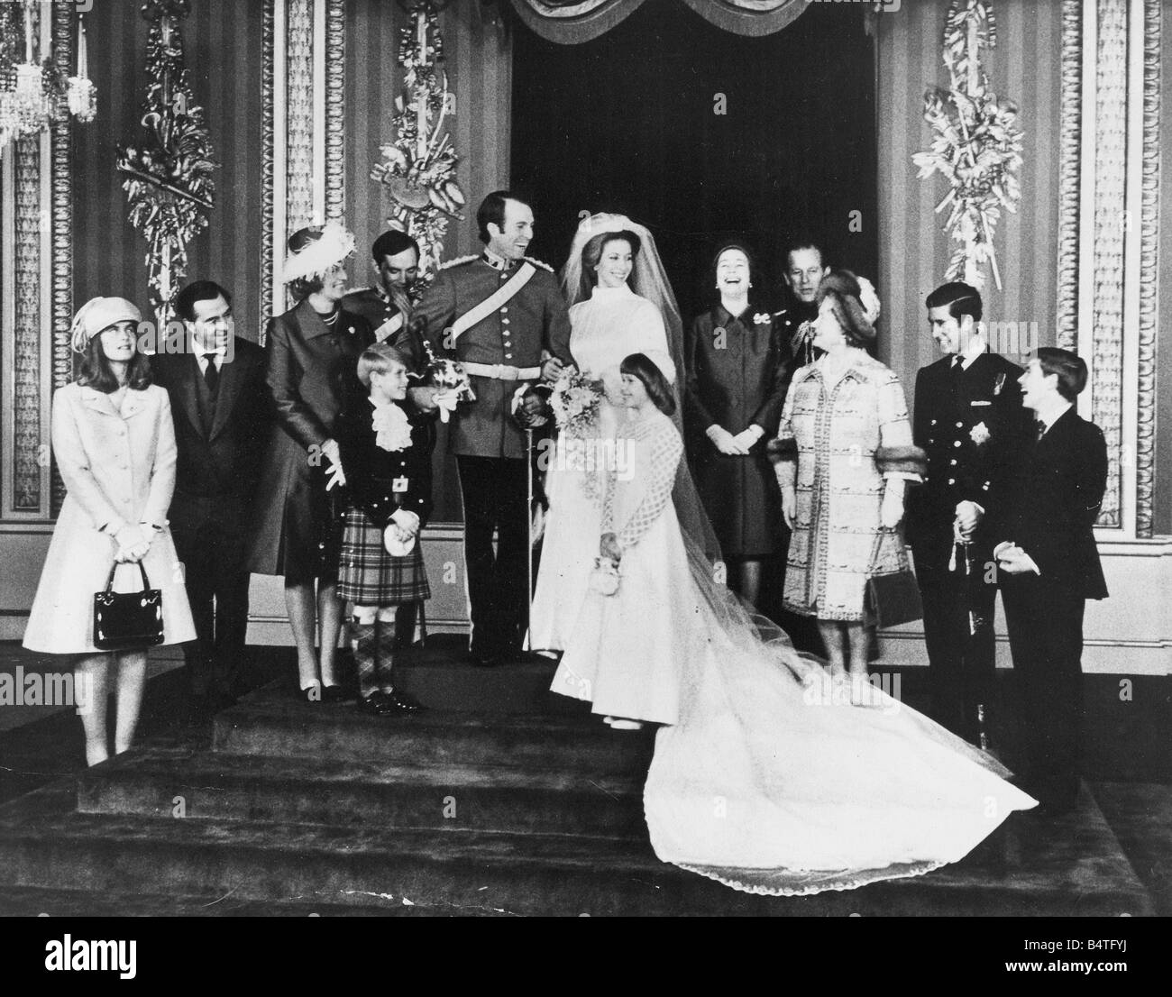 The wedding of Princess Anne and Capt Mark Phillips at Westinster ...