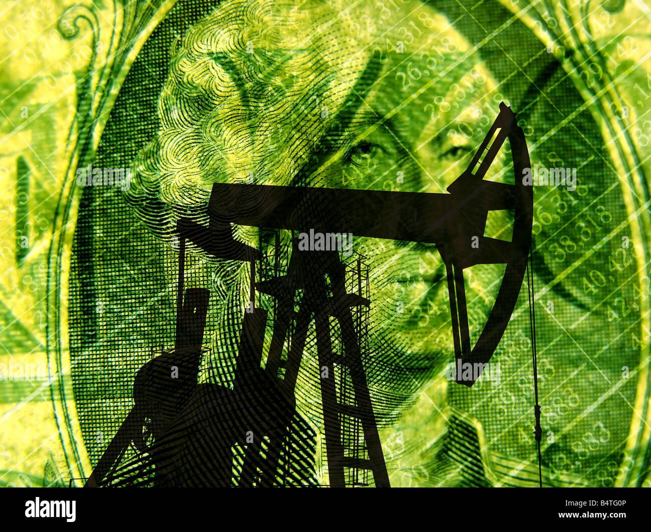 oil crisis concept - Stock Image
