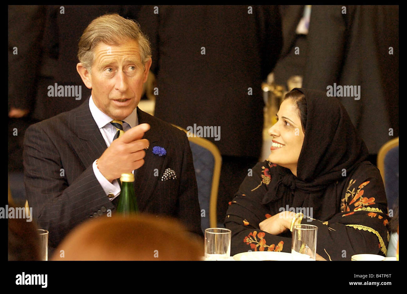 Prince Charles June 2003 visits the Central Mosque in Glasgow today as part of his visit to Scotland - Stock Image
