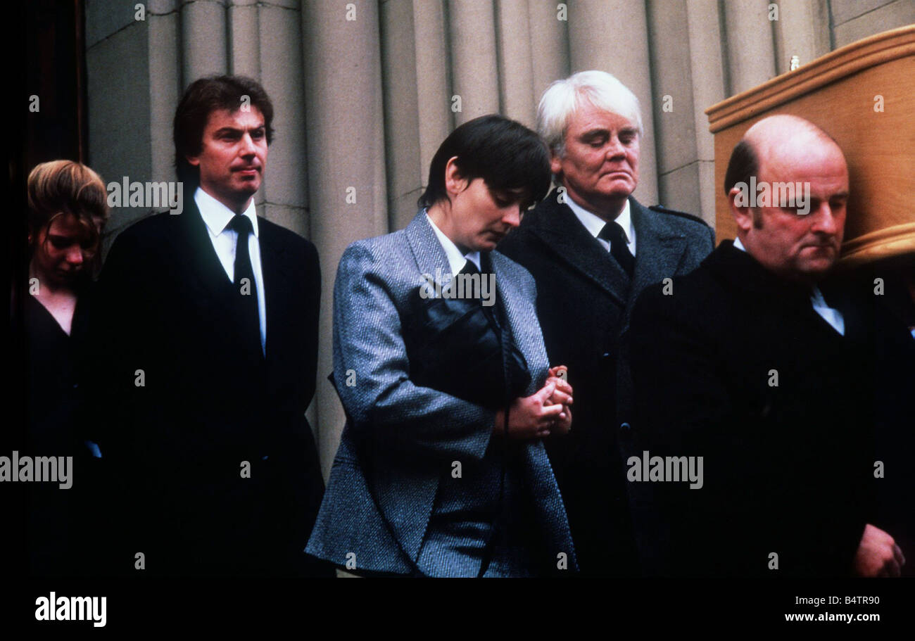 Anthony Booth September 1986 At the funeral of Pat Phoenix