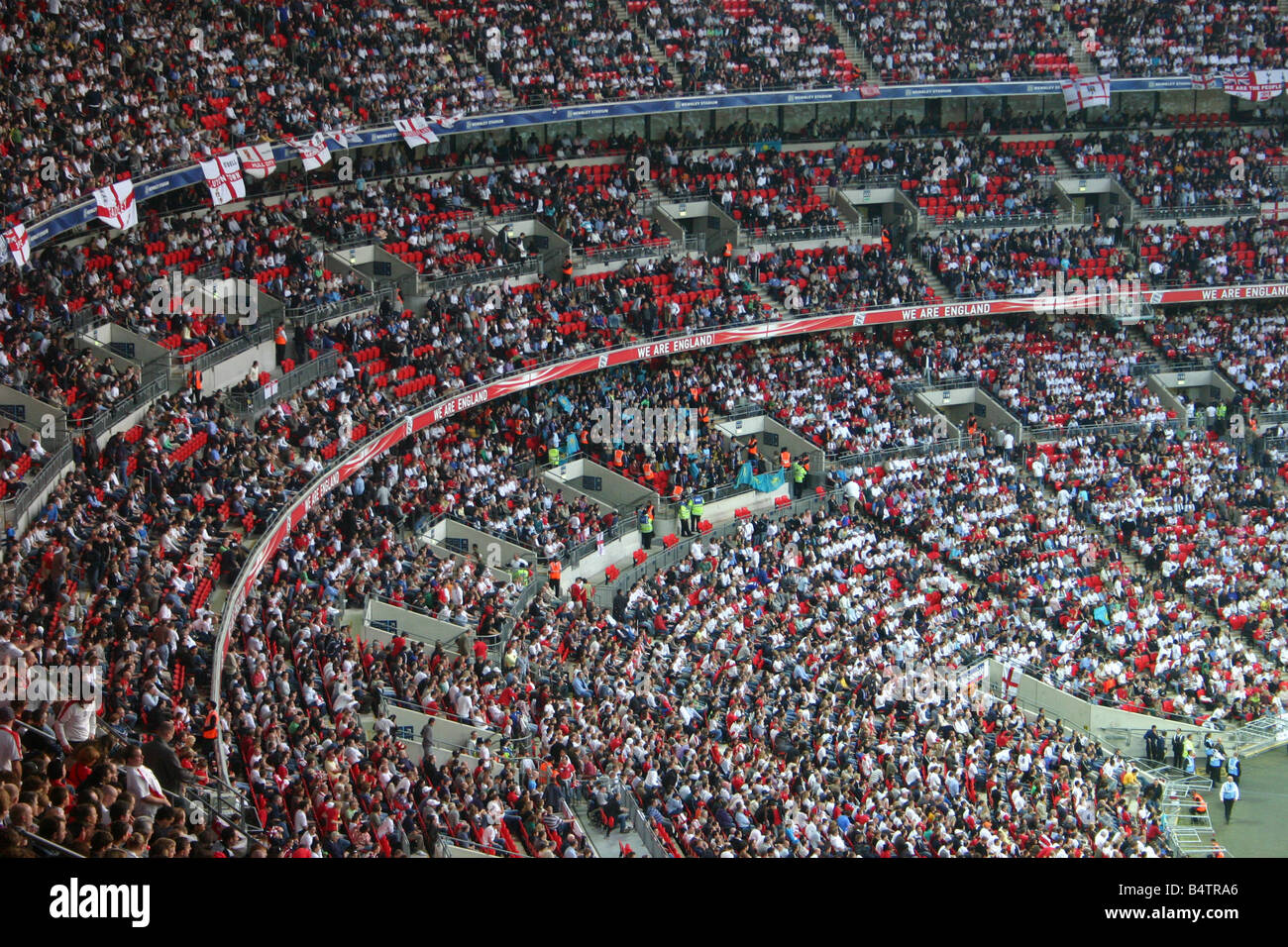 England fans at new Wembley stadium - Stock Image