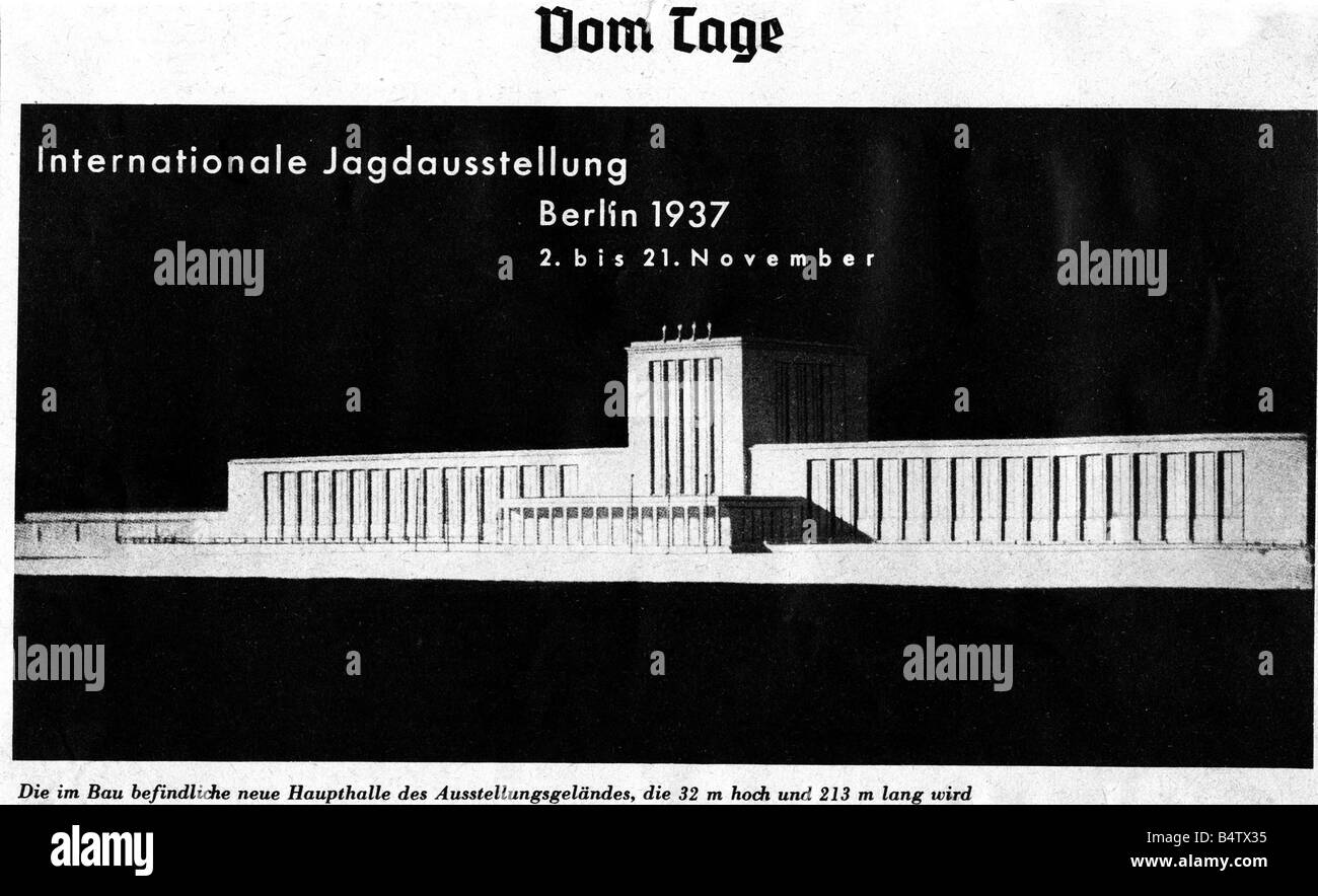 exhibitions, industry, International Hunting Exhibition, Berlin, 2.11.1937 - 21.11.1937, Additional-Rights-Clearances - Stock Image