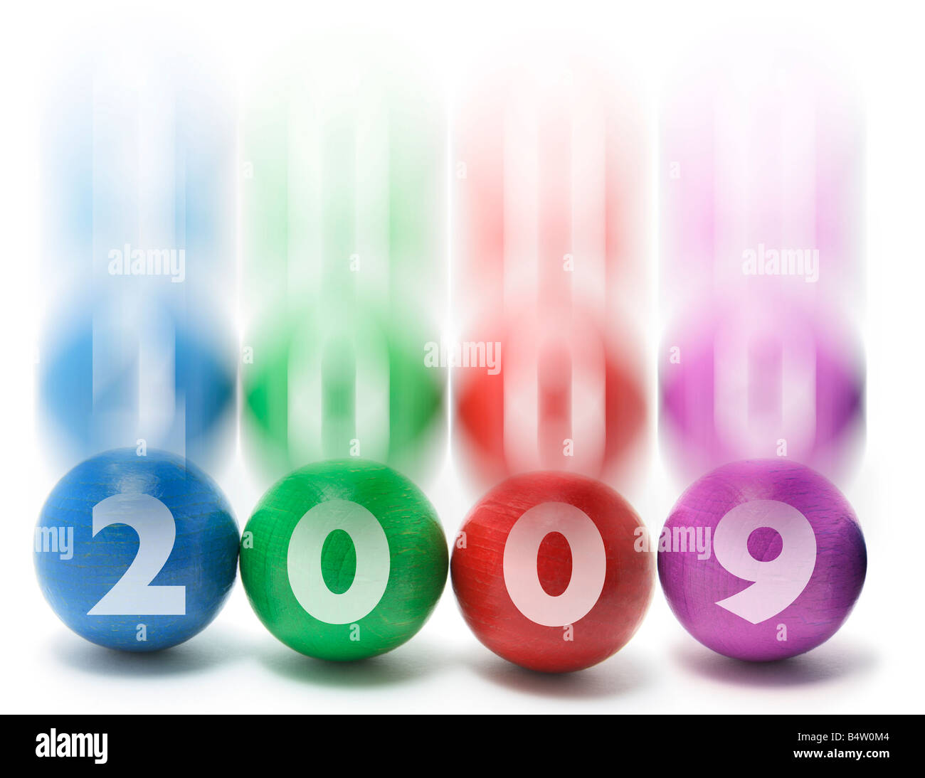 Juggling Balls with 2009 - Stock Image