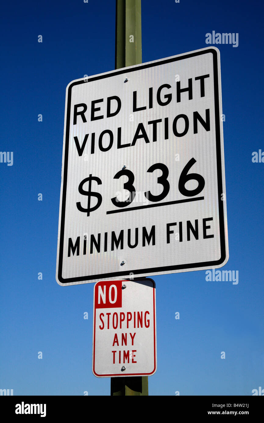 Attractive Red Light Traffic Violation Sign Great Ideas