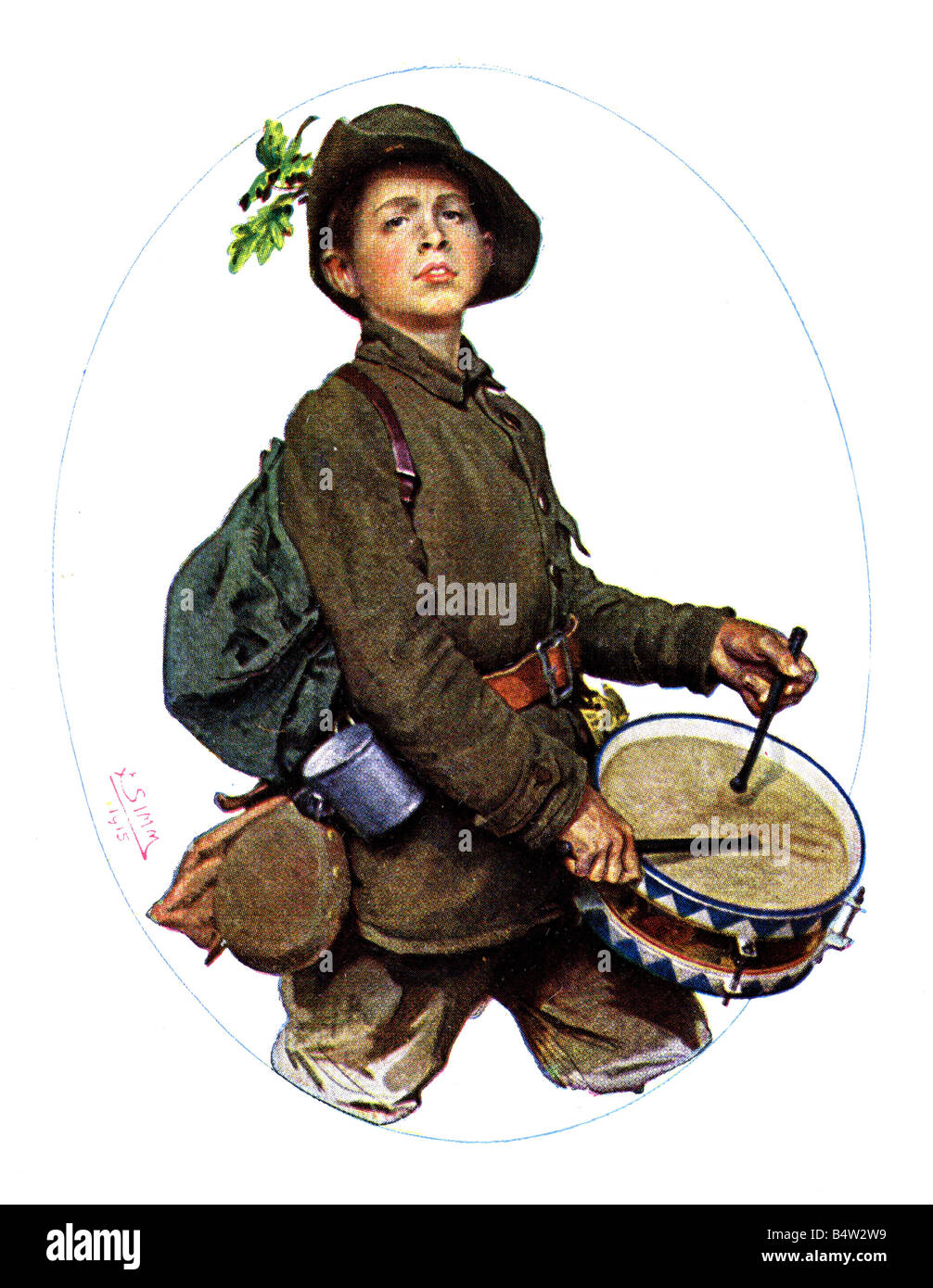 events, First World War / WWI, military postcards, postcard 'Jung-Deutschland' (Young Germany), Munich, - Stock Image