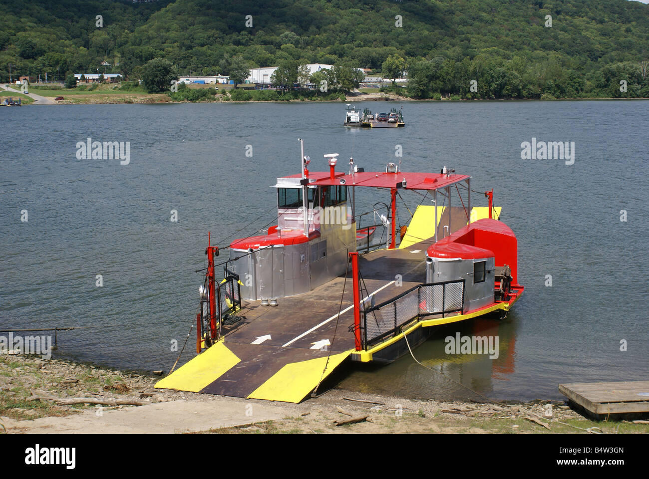 Colorful Ferry - Stock Image