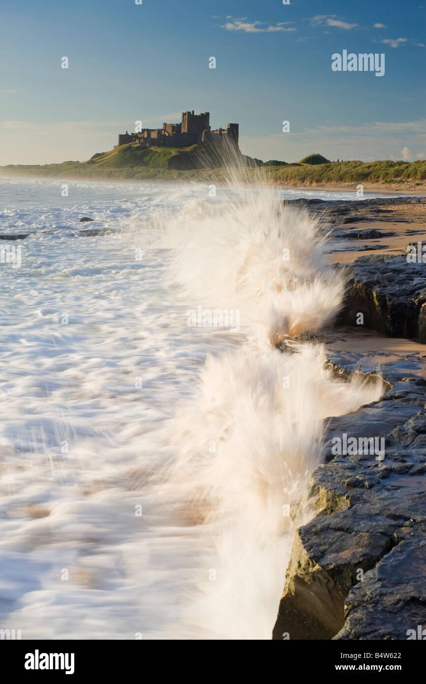 UK Northumberland Bamburgh Castle - Stock Image