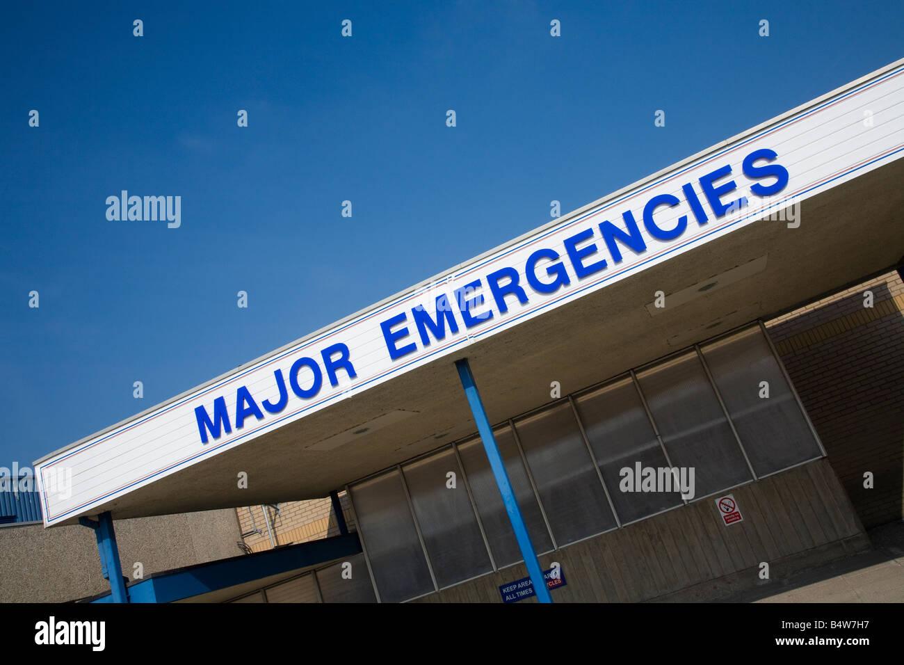 Major Emergency reception bay Royal Shrewsbury Hospital Shropshire England UK United Kingdom GB Great Britain British - Stock Image